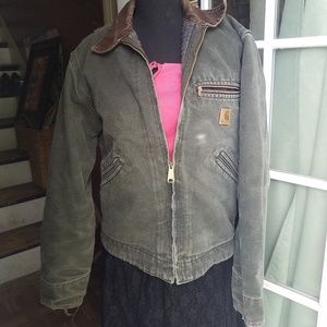 Carhartt Distressed Green Jacket